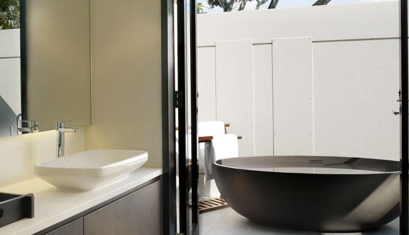 Indoor & Outdoor bathroom